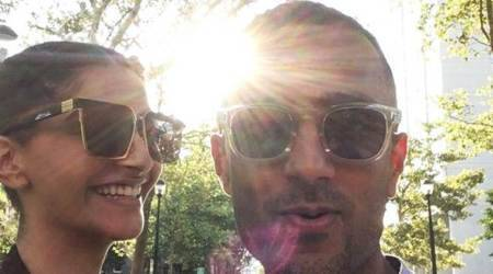 Sonam Kapoor is all smiles as she stands beside rumoured beau Anand Ahuja, see photos