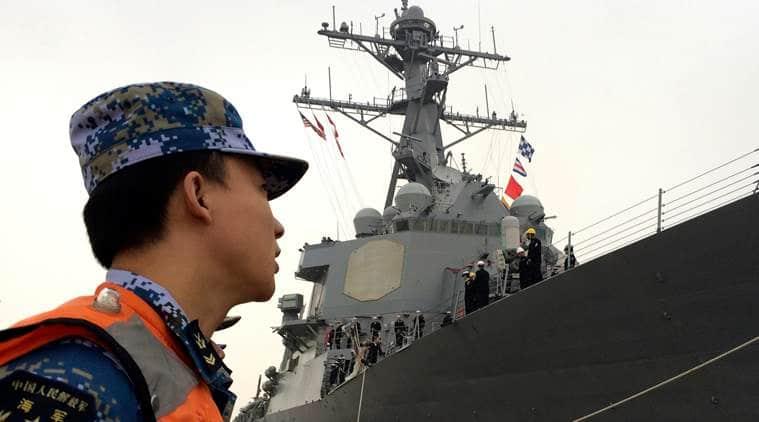US missing navy officer, US Navy, missing sailor, south china sea, world news, indian express