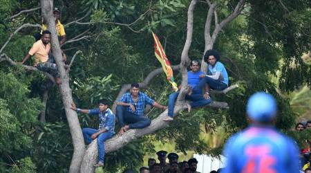 India vs Sri Lanka: Angry Sri Lanka fans hold up team bus