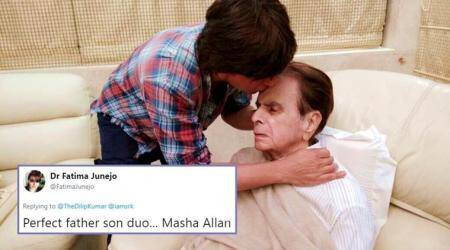 Shah Rukh Khan meets Dilip Kumar to wish good health, and Twitterati go all out