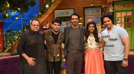 Arjun Rampal and Daddy cast split their sides on The Kapil Sharma Show