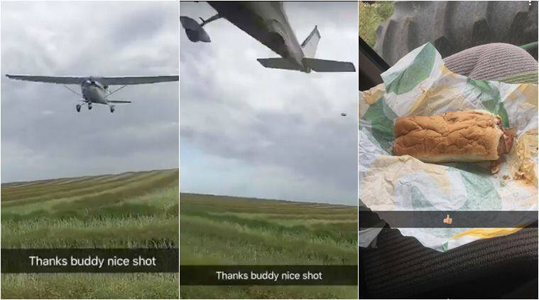 pilot airdopped subway, friend airdropped lunch, friend air srop subway, pilot air drop subway for friend, friend air drop food hungry budy, north dakota, viral video, trending video, indian express