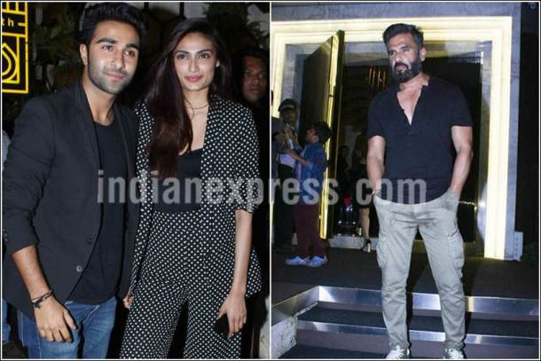 suneil shetty, athiya shetty images, suneil athiya photos, suneil athiya birthday party