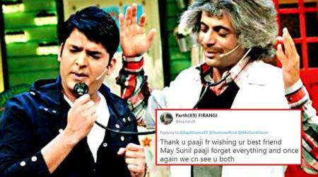 Kapil Sharma just wished Sunil Grover on his birthday, and Twitterati can't keep calm