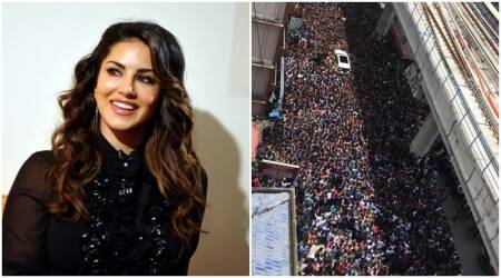 PHOTOS: This is how Sunny Leone was welcomed in Kochi!