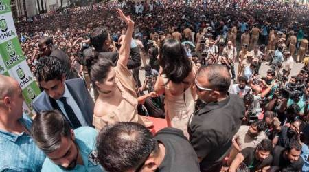 Police book mobile company owner and 100 others after Sunny Leone's visit to Kochi