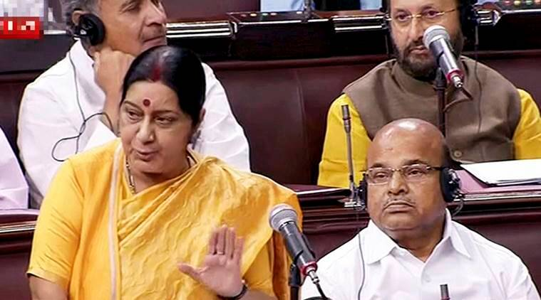 Sushma Swaraj, Parliament, breach of privilege, Congress,india news, indian express news