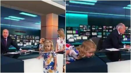 WATCH: This toddler interrupts a live TV interview in the most adorable way