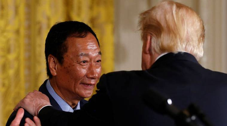 Donald Trump, Foxconn Technology, Foxconn trump, Terry Gou, White House, Taiwan US ties, World news, Indian Express