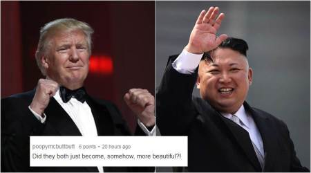 Amid nuclear standoff, someone swapped Kim Jong-un and Trump's hair, and people can't stop laughing