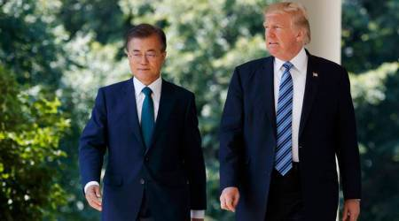 'Military exercises with United States not meant to raise tensions', says South Korean President Moon Jae-in