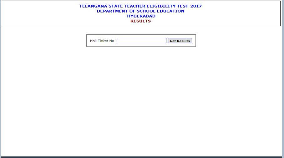 TS TET Results 2017 Disclosed Today at www