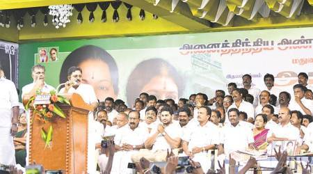 With 23 MLAs, T T V Dinakaran shows his strength, gets in the way of merger