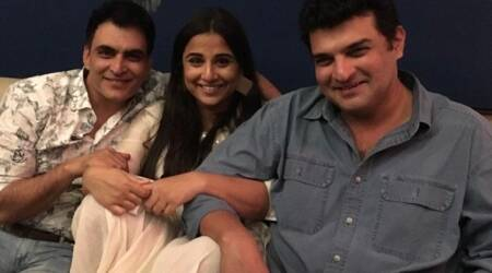 Photos: Vidya Balan caught in-between reel and real husband at Tumhari Sulu get-together