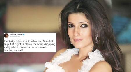 Twinkle Khanna wants to 'snip' daughter's hair and blame the 'braid chopper'; Twitterati standdivided