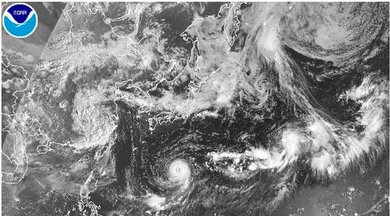 japan typhoon, typhoon noru, japan rain storm, shikoku island, asia news, world news, indian express