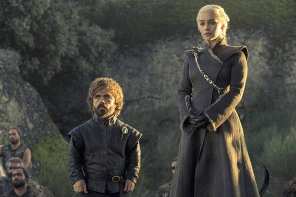 game of thrones, game of thrones season 7, game of thrones season 7 episode 5, game of thrones episode 5 stills, daenerys targaryen, tyrion lannister