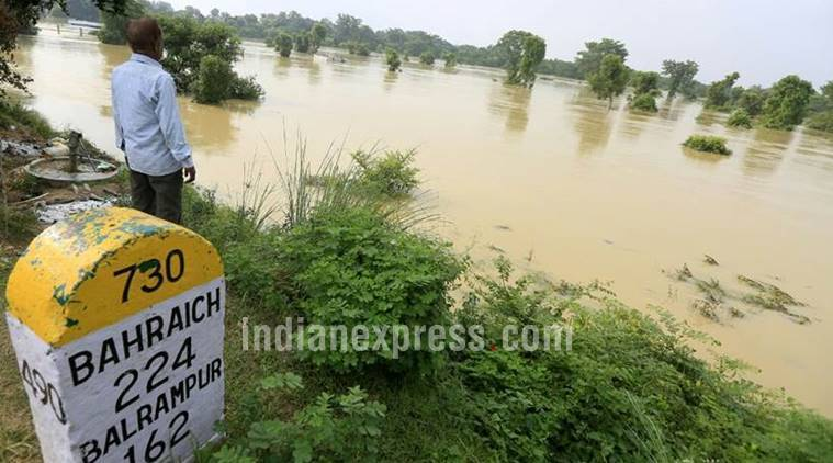 up flood, up flood latest pics, uttar pradesh, up flood images, up flood photos, indian express