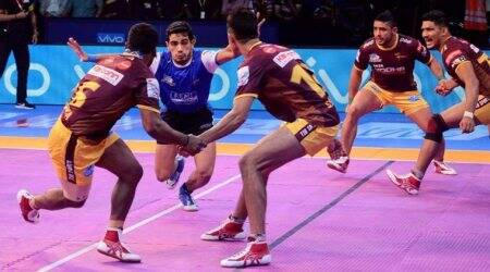 Pro Kabaddi 2017 live score, UP Yoddha vs Tamil Thalaivas live score: UP Yoddha 19-11 Tamil Thalaivas at half time