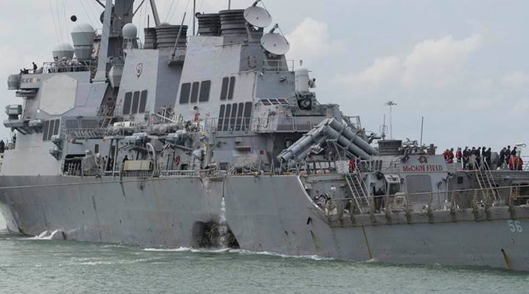 USS John S McCain, US Navy and Marine Corps, US Pacific Fleet, United States, US, World news, Indian express news