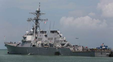 us navy, us navy warship, us warship collision, us Naval Operations, USS John McCain, singapore merchant tanker, us news, world news