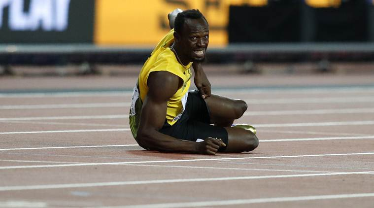 Usain Bolt limps out of final race, Great Britain win Gold in World Championships 4x100m relay