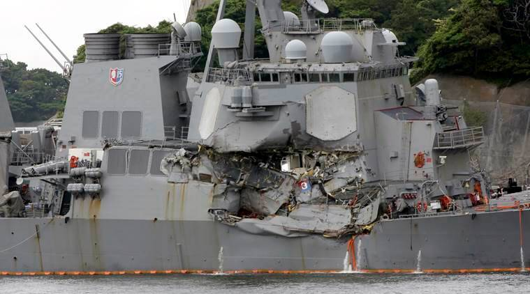 US navy, US sailors, US navy ship collision, USS Fitzgerald, Philippines cargo ship, world news