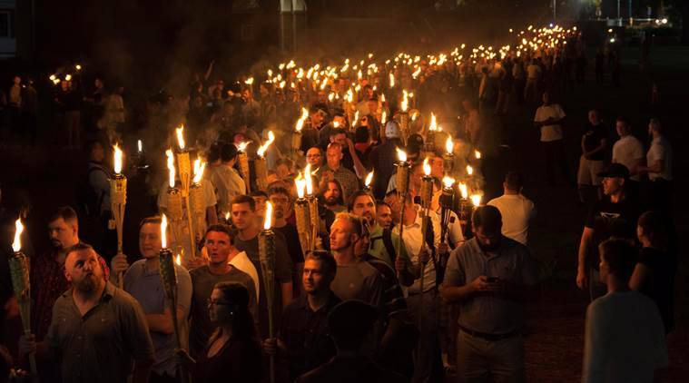 charlottesville violence, virginia violence, charlottesville incident, what is charlottesville incident, white people, us violence, donald trump, racism in america, white people protest, indian express