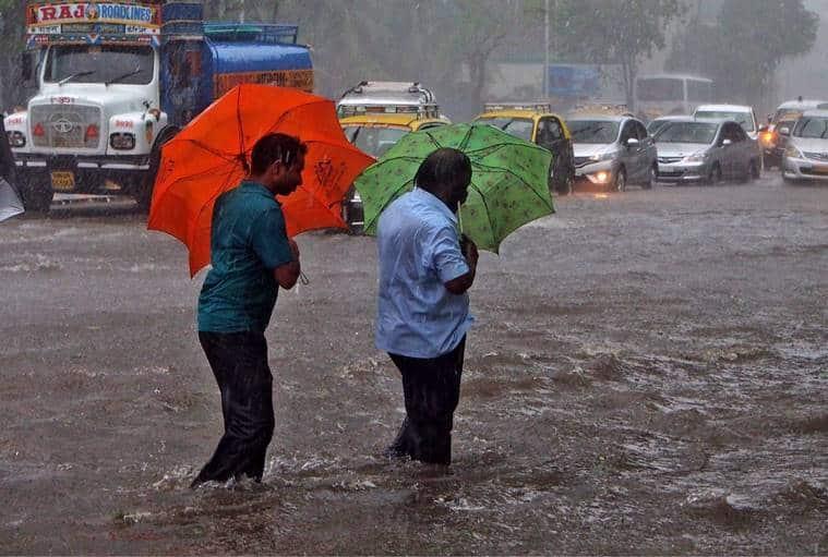 mumbai rains, mumbai weather, rains in mumbai, mumbai monsoon, mumbai rainfall, mumbai rain, water logging mumbai, weather in mumbai, colaba rain, andheri rain, malad rain, bombay rains, imd, imd satellite image, bombay, mumbai trains, mumbai, bombay, indian express news