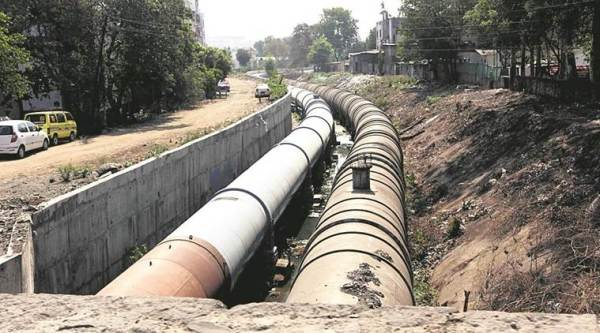 water pipeline, pmc, pune, indian express