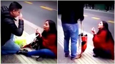 VIDEO: Woman's public PROPOSAL goes ALL WRONG, after she refuses to give him thering