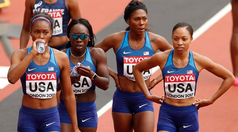 Olympic champions United States lead the way in women's 4×100 metres relayheats