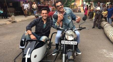 Yamla Pagla Deewana Phir Se shoot begins, Bobby Deol and Dharmendra become Jay and Viru. See pic