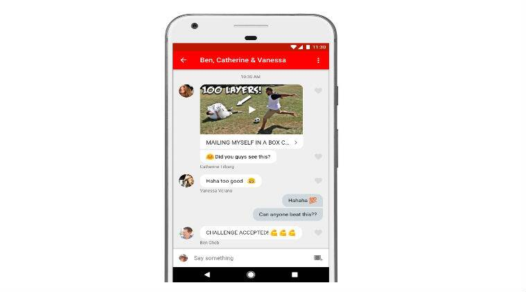 YouTube in-app feature, YouTube video chat Android, YouTube in-app messaging iOS, videos, YouTube videos