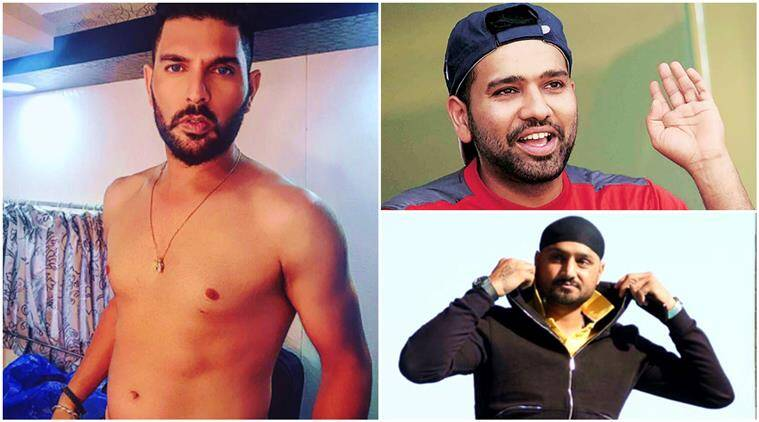 yuvraj singh, rohit sharma, harbhajan singh, yuvraj singh instagram, rohit sharma makes fun of yuvraj, yuvraj bare body, yuvraj singh torso, indian express, indian express news