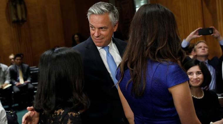 Jon Huntsman, Donald Trump, Nominee Russia Ambassador, Republican, Donald Trump Russia, Russia election meddling, Presidential election 2016, Americ Russia conflict, Russia, World News, Indian Express
