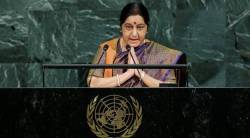 Sushma Swaraj, Sushma Swaraj UNGA, sushma swaraj speech, Sushma Swaraj on Pakistan, Pakistan, India News, Indian Express