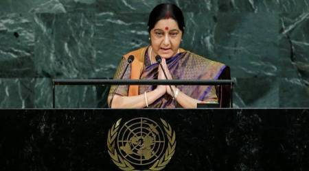 We produced IITs and IIMs, you Jaish and Lashkar: Sushma Swaraj tears into Pakistan