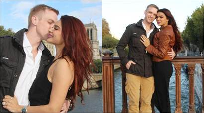 Before she says 'I Do' in December, Aashka Goradia professes love for Brent Goble in the City of Love