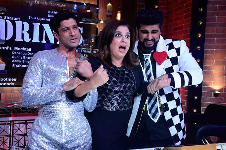 farah khan, lip sing battle, farhan akhtar, arjun kapoor, farah khan lip sing battle, farah khan farhan akhtar, farah khan arjun kapoor, farah khan lip sing battle photos, lip sing battle sets