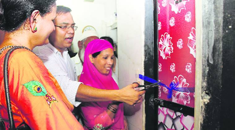 Thane settlement gets its 100th toilet under 'One Household OneToilet'