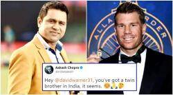 aakash chopra, david warner, aakash chopra trolled, aakash chopra tweet, aakash chopra warner joke, ind vs aus, indian express, indian express news