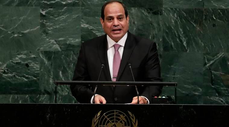 United nations, united nations general assembly, UNGA, Egyptian President, Abdel Fattah al-Sisi, israel, palestine, World news,