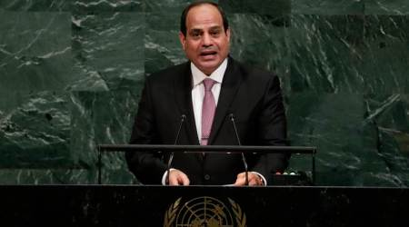 Egypt's President Abdel Fattah al-Sisi urges Palestinians to unite with Israel
