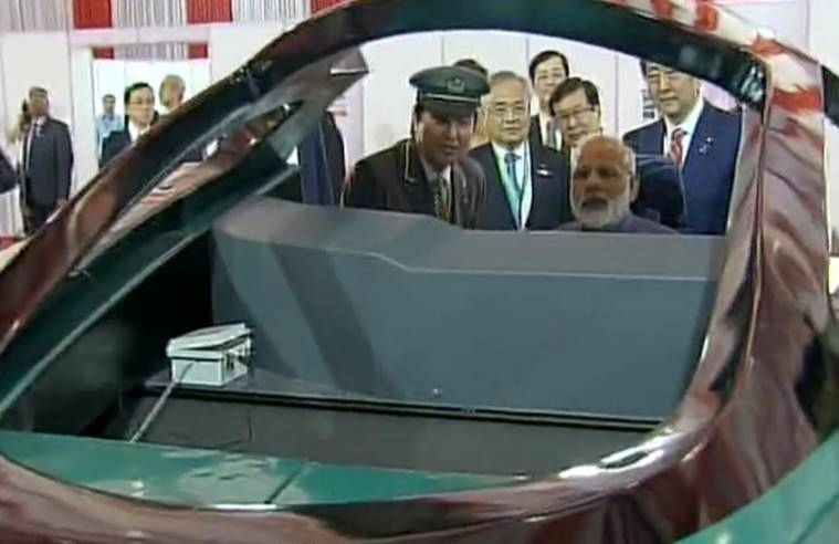 Shinzo Abe, Narendra Modi, India, Japan, Bullet Train, Bullet train launch, bullet train india, India-japan bilateral relations, Pakistan, Terrorism, Pathankot attack, 26/11 attack, japan, india, modi speech, india news, bullet train launch news, latest news, live updates modi gujarat shinzo abe