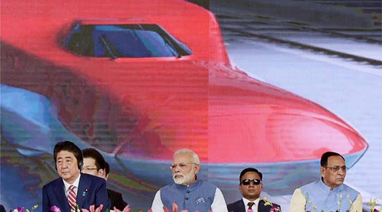bullet train, narendra modi, shinzo abe, palghar, Ahmedabad-Mumbai bullet train project, farmers, Ahmedabad-Mumbai bullet train, india news