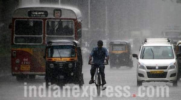 mumbai rains, rain in mumbai, rainfall in mumbai, mumbai rainfall, mumbai, bombay rains, indian express news