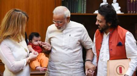 Photos: Prime Minister Narendra Modi welcomes Adnan Sami's daughter Medina
