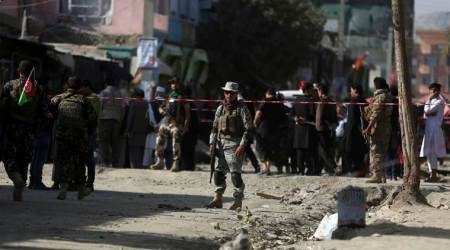 Hospital official says 4 killed in Kabul suicide bombing
