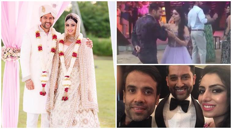 aftab shivdasani re weds wife nin dusanj 759 - hindu beach wedding